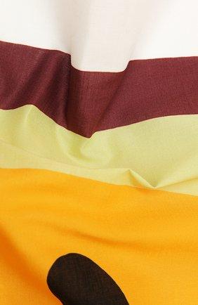 Женский хлопковый платок loewe  x paula's ibiza LOEWE оранжевого цвета, арт. F616910X08 | Фото 2