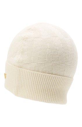Женская шерстяная шапка VALENTINO кремвого цвета, арт. WW2HB00S/LLA   Фото 2 (Материал: Шерсть)