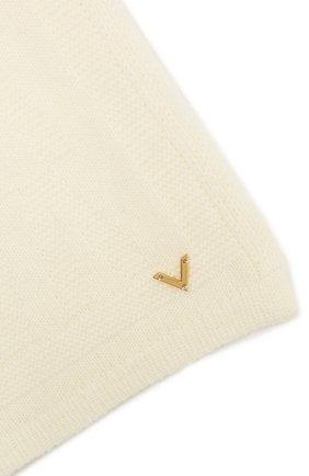 Женский шерстяной шарф VALENTINO кремвого цвета, арт. WW2ET00I/LLA | Фото 2