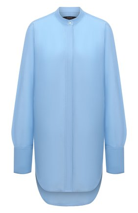 Женская хлопковая рубашка JOSEPH голубого цвета, арт. JP001143   Фото 1