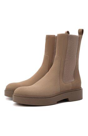 Женские кожаные ботинки SANTONI бежевого цвета, арт. WTHW59825BEINMGDE90 | Фото 1