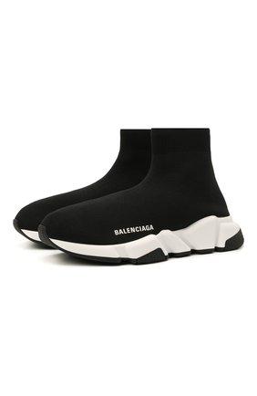 Женские текстильные кроссовки speed BALENCIAGA черного цвета, арт. 587280/W2DBQ | Фото 1