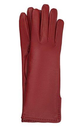 Женские кожаные перчатки LORO PIANA бордового цвета, арт. FAL2778 | Фото 1