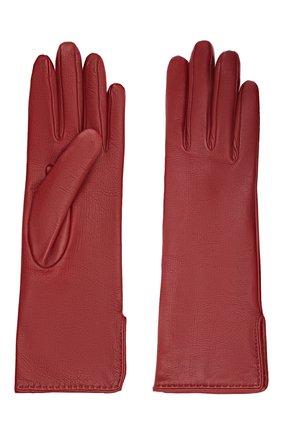 Женские кожаные перчатки LORO PIANA бордового цвета, арт. FAL2778 | Фото 2