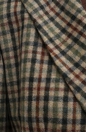 Женский кашемировый жакет LORO PIANA хаки цвета, арт. FAL3124 | Фото 5 (Материал внешний: Шерсть, Кашемир; Рукава: Длинные; Длина (для топов): Удлиненные; Случай: Формальный; 1-2-бортные: Двубортные; Женское Кросс-КТ: Жакет-одежда; Материал подклада: Шелк; Стили: Кэжуэл)