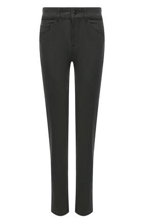 Женские джинсы LORO PIANA темно-зеленого цвета, арт. FAL8081 | Фото 1 (Материал внешний: Хлопок; Стили: Кэжуэл; Длина (брюки, джинсы): Стандартные; Силуэт Ж (брюки и джинсы): Слим; Кросс-КТ: Деним)
