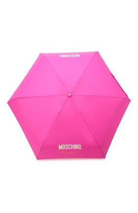 Женский складной зонт MOSCHINO фуксия цвета, арт. 8014-SUPERMINI | Фото 1
