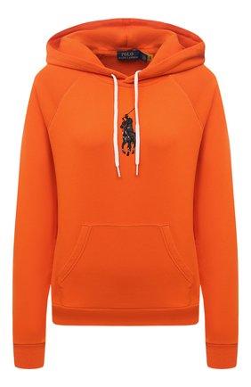 Женский хлопковое худи POLO RALPH LAUREN оранжевого цвета, арт. 211839181   Фото 1