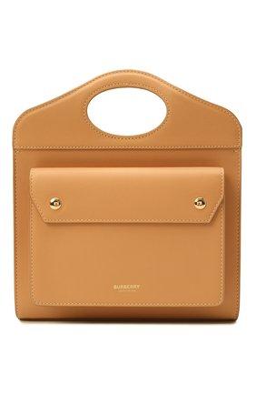 Женская сумка pocket bag medium BURBERRY бежевого цвета, арт. 8043105 | Фото 1 (Материал: Натуральная кожа; Сумки-технические: Сумки top-handle; Ремень/цепочка: На ремешке; Размер: medium)