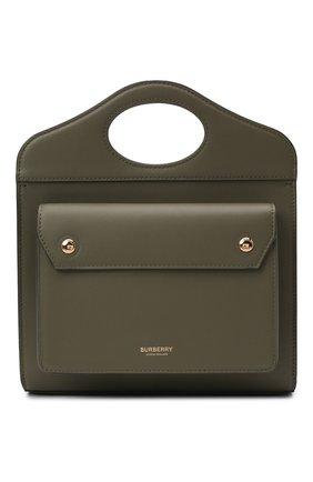 Женская сумка pocket bag medium BURBERRY хаки цвета, арт. 8042434 | Фото 1