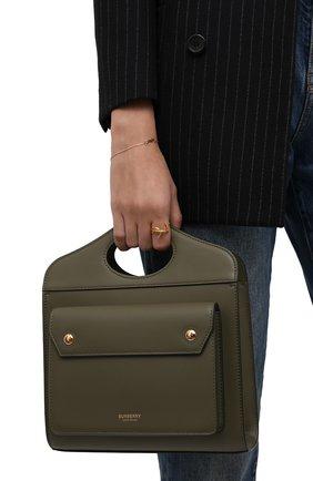 Женская сумка pocket bag medium BURBERRY хаки цвета, арт. 8042434 | Фото 2