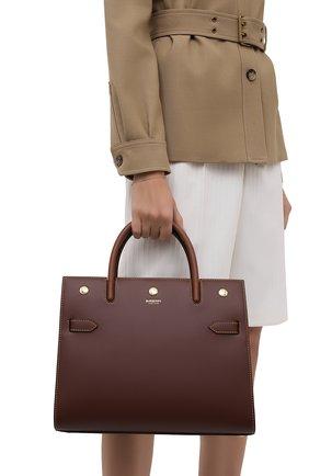 Женская сумка title small BURBERRY коричневого цвета, арт. 8042391 | Фото 2
