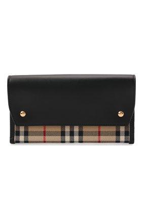 Женская сумка check small BURBERRY черного цвета, арт. 8041802 | Фото 1 (Размер: small; Ремень/цепочка: На ремешке; Сумки-технические: Сумки через плечо)