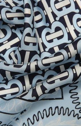 Женский шелковый платок BURBERRY голубого цвета, арт. 8041770 | Фото 2