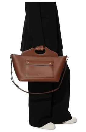 Женский сумка-тоут pocket bag small BURBERRY коричневого цвета, арт. 8041746 | Фото 2 (Материал: Натуральная кожа; Сумки-технические: Сумки-шопперы; Размер: small)