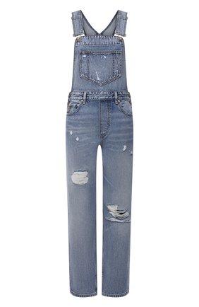 Женский джинсовый комбинезон GANNI голубого цвета, арт. F5797 | Фото 1