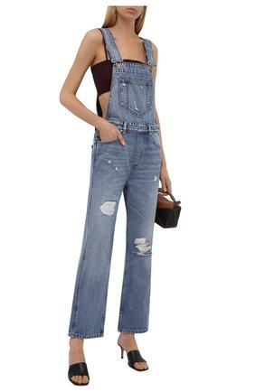 Женский джинсовый комбинезон GANNI голубого цвета, арт. F5797 | Фото 2