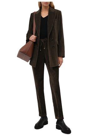 Женские кожаные ботинки KITON черного цвета, арт. D52803X04R81 | Фото 2 (Каблук высота: Низкий; Материал внутренний: Натуральная кожа; Женское Кросс-КТ: Челси-ботинки; Подошва: Платформа)