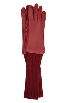 Женские перчатки LORO PIANA бордового цвета, арт. FAL8232 | Фото 1
