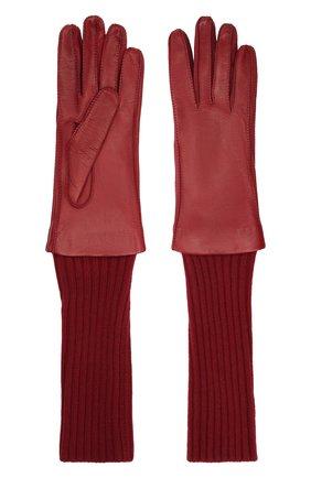 Женские перчатки LORO PIANA бордового цвета, арт. FAL8232 | Фото 2
