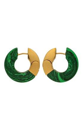 Женские серьги BOTTEGA VENETA зеленого цвета, арт. 657307/VCCU3 | Фото 1