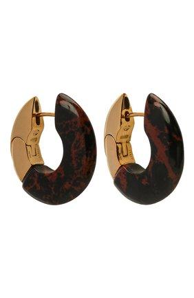 Женские серьги BOTTEGA VENETA коричневого цвета, арт. 657307/V0081 | Фото 3 (Материал: Серебро)