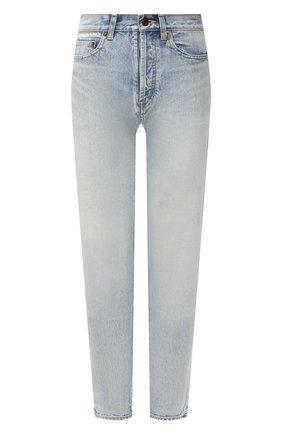 Женские джинсы SAINT LAURENT голубого цвета, арт. 614443/Y35AC | Фото 1