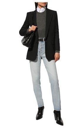 Женские джинсы SAINT LAURENT голубого цвета, арт. 614443/Y35AC | Фото 2