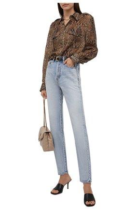 Женская шелковая рубашка RALPH LAUREN коричневого цвета, арт. 290834748 | Фото 2 (Материал внешний: Шелк; Рукава: Длинные; Длина (для топов): Стандартные; Женское Кросс-КТ: Рубашка-одежда)