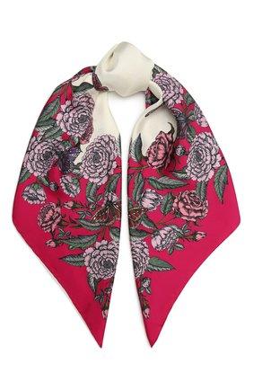 Женский шелковый платок VALENTINO фуксия цвета, арт. WW2EI114/QSI   Фото 1