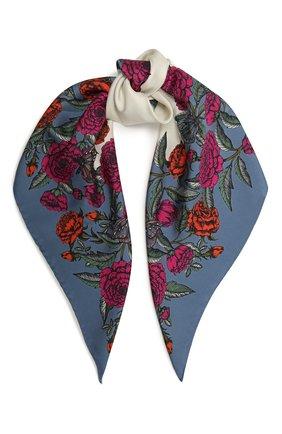 Женский шелковый платок VALENTINO синего цвета, арт. WW2EI114/QSI   Фото 1