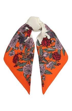 Женский шелковый платок VALENTINO оранжевого цвета, арт. WW2EI114/QSI | Фото 1
