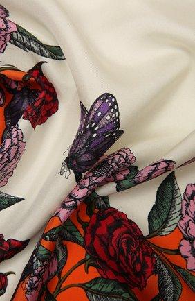 Женский шелковый платок VALENTINO оранжевого цвета, арт. WW2EI114/QSI | Фото 2