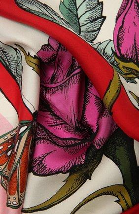 Женский шелковый платок VALENTINO розового цвета, арт. WW2EI114/PRK   Фото 2