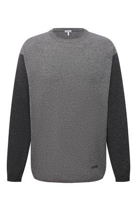 Мужской свитер из шерсти и кашемира LOEWE серого цвета, арт. H526Y14K68 | Фото 1