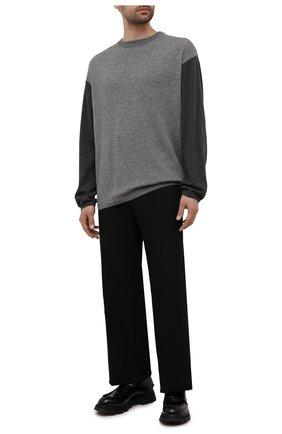 Мужской свитер из шерсти и кашемира LOEWE серого цвета, арт. H526Y14K68 | Фото 2