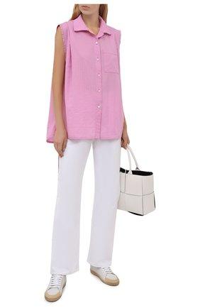 Женская хлопковая рубашка loewe x paula's ibiza LOEWE розового цвета, арт. S616Y06X09 | Фото 2 (Материал внешний: Хлопок; Стили: Романтичный; Женское Кросс-КТ: Рубашка-одежда; Принт: Без принта)