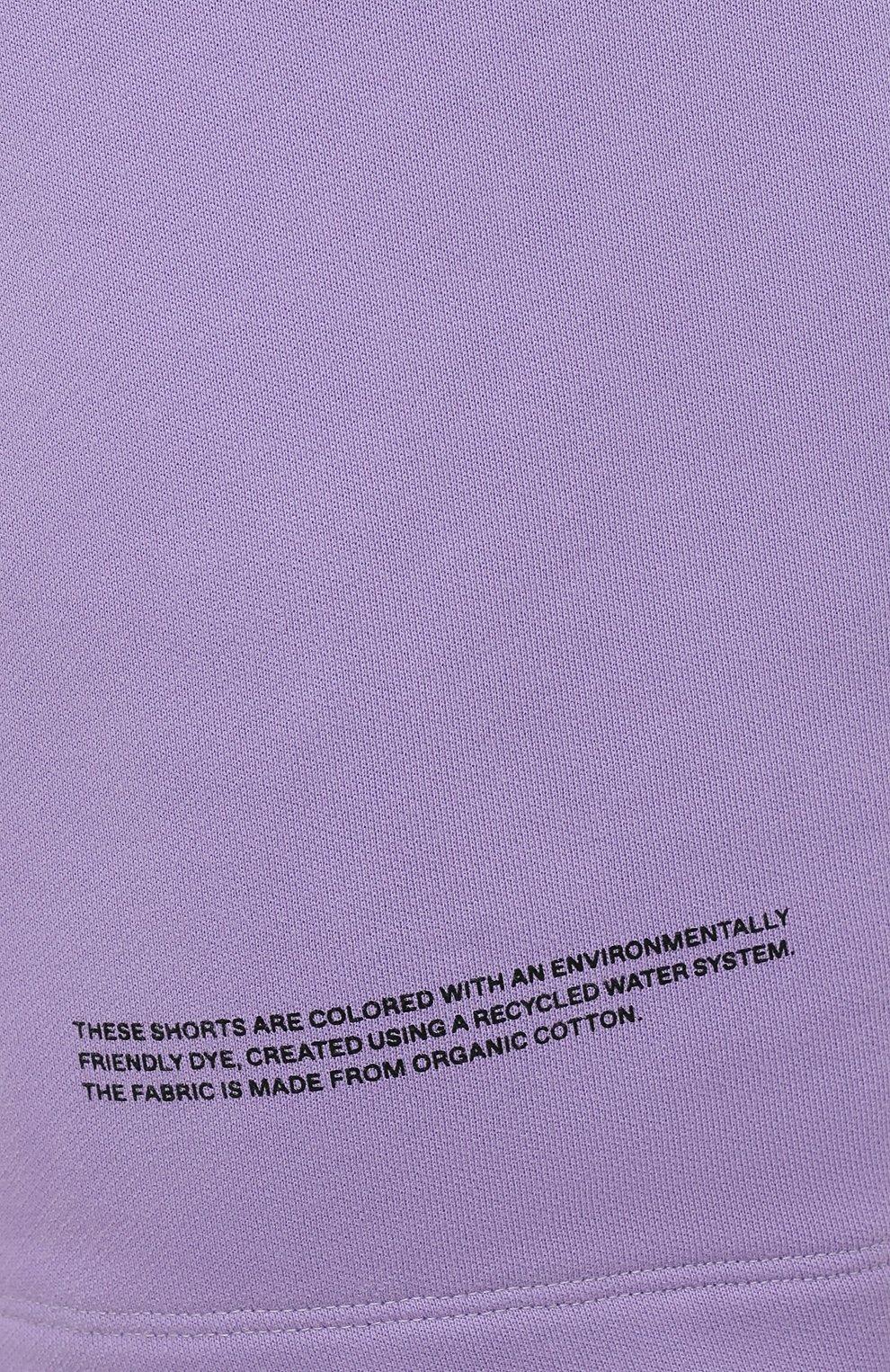 Мужского хлопковые шорты PANGAIA сиреневого цвета, арт. 20FSU01-012-FEM001 | Фото 8 (Женское Кросс-КТ: Шорты-одежда, Шорты-спорт; Стили: Спорт-шик)