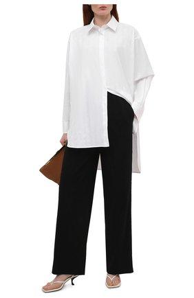 Женская хлопковая рубашка LOEWE белого цвета, арт. S359337XE4 | Фото 2 (Рукава: Длинные; Материал внешний: Хлопок; Стили: Романтичный; Принт: Без принта; Женское Кросс-КТ: Рубашка-одежда)
