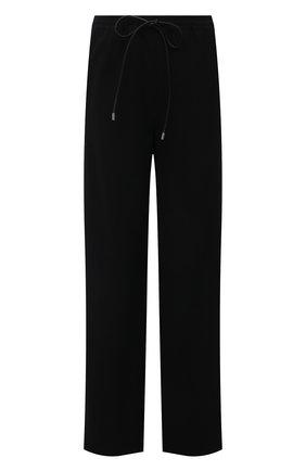Женские шерстяные брюки LOEWE черного цвета, арт. S359331XD2 | Фото 1 (Длина (брюки, джинсы): Стандартные; Материал внешний: Шерсть; Женское Кросс-КТ: Брюки-одежда; Силуэт Ж (брюки и джинсы): Широкие)