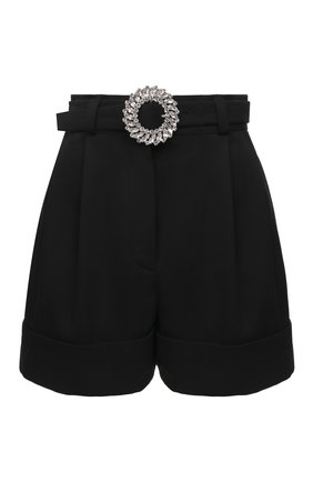 Женские шерстяные шорты MIU MIU черного цвета, арт. MP1406-1R1-F0002 | Фото 1
