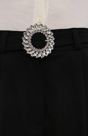Женские шерстяные шорты MIU MIU черного цвета, арт. MP1406-1R1-F0002 | Фото 5 (Женское Кросс-КТ: Шорты-одежда; Материал внешний: Шерсть; Стили: Гламурный; Длина Ж (юбки, платья, шорты): Мини)