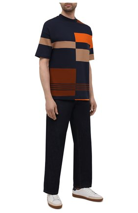 Мужская хлопковая футболка BOSS темно-синего цвета, арт. 50450221 | Фото 2