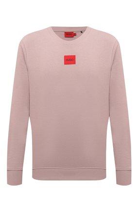 Мужской хлопковый свитшот HUGO розового цвета, арт. 50447964 | Фото 1