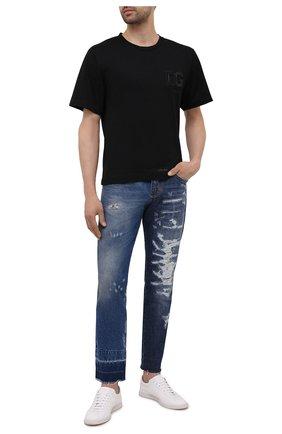 Мужская хлопковая футболка DOLCE & GABBANA черного цвета, арт. G8NB3Z/FU7EQ | Фото 2