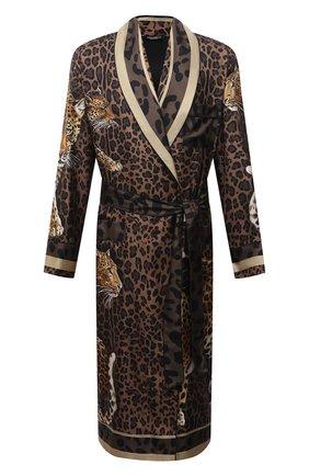 Мужской шелковый халат DOLCE & GABBANA леопардового цвета, арт. G0936T/FI16F | Фото 1