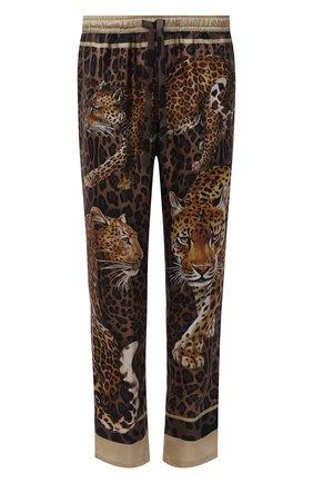 Мужские шелковые домашние брюки DOLCE & GABBANA леопардового цвета, арт. GYB0HT/FI16G | Фото 1