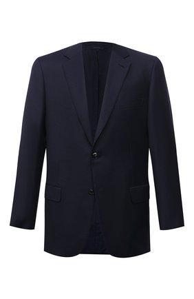 Мужской шерстяной пиджак BRIONI темно-синего цвета, арт. RGH010/08A5P/PARLAMENT0   Фото 1