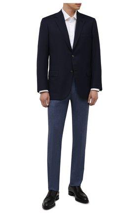 Мужской шерстяной пиджак BRIONI темно-синего цвета, арт. RGH010/08A5P/PARLAMENT0   Фото 2
