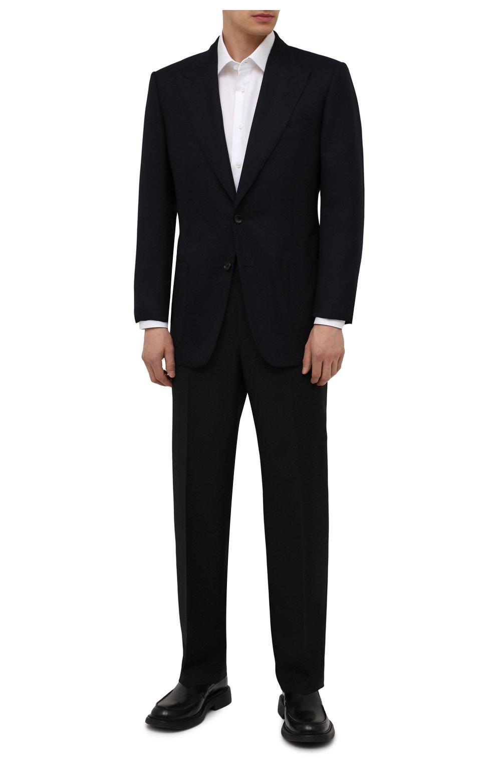 Мужской шерстяной пиджак TOM FORD темно-синего цвета, арт. 211R67/11HA40   Фото 2